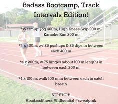 Track workout - running plus bootcamp Bleacher Workout, Stadium Workout, Sprint Workout, Boot Camp Workout, Track Workout, Running Workouts, Cardio Workouts, Fitness Exercises, Running Plan