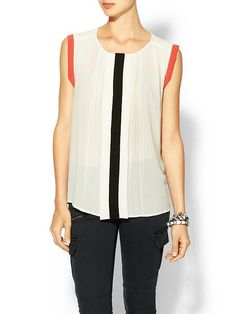 Piperlime | Colorblock Pleated Blouse