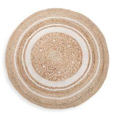round white cotton and jute rug D 90 cm   Maisons du Monde