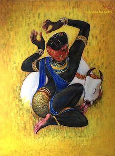 Keshav (@keshav61) | Twitter Indian Art Paintings, Abstract Face Art, Vedic Art, Indian Artwork, Hindu Art, Tribal Art, Modern Art Paintings, Art, Africa Art