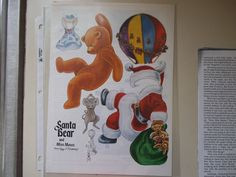 Vintage Santa Bear Miss Mouse Paper Doll by Rosamond Article Uncut 1986 | eBay