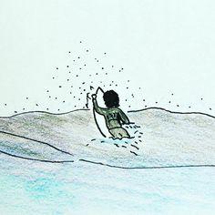 SURF  Paddle, Paddle, Paddle!!! #서핑 #파도타기 #패들 #힘들어 #평소에운동을 #파도가없어 #드로잉 #일러스트 #아웃도어 #라이프 #취미 #고아웃 #바다  #surf #wave #swell #paddle #outdoor #life #gooutside #hobby #lifestyle #drawing #illustration #doodle