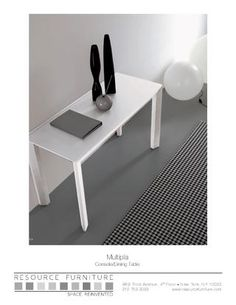 Console table converts to seat 10, Resource Furniture