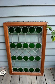 Art Deco Stained Glass Window by LunaParkVintage on Etsy, $450.00