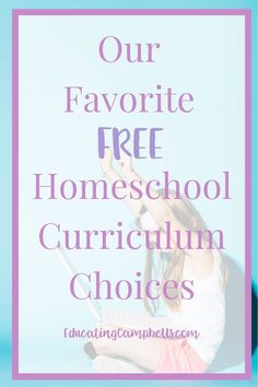 I explore free homeschool curriculum choices every year to try to offset some of our homeschooling costs. Here are some we've found work well. Kindergarten Homeschool Curriculum, Homeschooling Resources, Teacher Resources, High School, Middle School, Education, Choices, Text Overlay