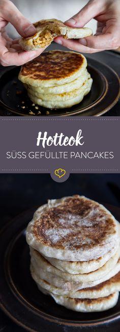 Diese süß gefüllten Pancakes sind in Korea der absolute Streetfood-Renner. Du bekommst sie dort an jeder Ecke und mit vielen unterschiedlichen Füllungen.
