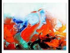 Abstract Art Painting Video Lesson Red Dolphin by Peter Dranitsin AbstractArtLesson.com