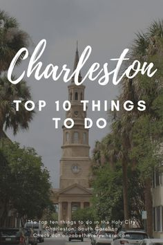 Top 10 Things to Do in Charleston SC- from shopping on King Street to playing on the beach on Sullivan s Island charleston sc southcarolina usa unitedstates travel traveltips Charleston Sc Things To Do, Charleston Sc Restaurants, Historic Charleston Sc, Charleston South Carolina, Visit Charleston Sc, North Carolina, Travel Usa, Travel Tips, Shopping