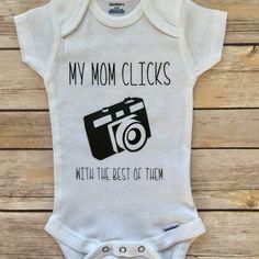 A personal favorite from my Etsy shop https://www.etsy.com/listing/509330860/mamarazzi-onesie-funny-onesie-newborn