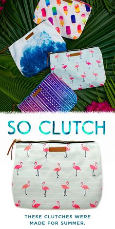"""Get summer ready with our new collection of beach clutches! Carry all of your beach essentials with you for a fun day in the sun and make a splash with our water-resistant interior! Use code """"PV20"""" for 20% off your order. Live Free and join the Pura Vida movement today!"""