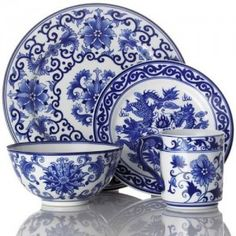 Blue and white wares