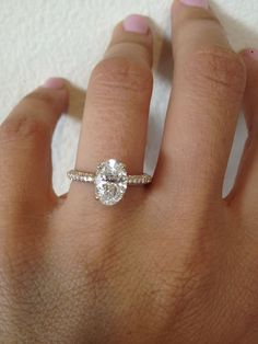 Oval | Diamond | Micro Pave | Thin | Platinum | Bridal | Wedding | Engagement | Ring | Love | WS Jewelry | Seattle