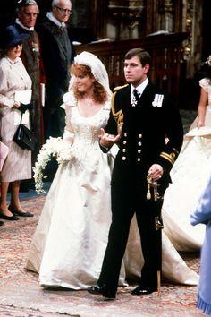 Royal Brides, Royal Weddings, Royal Wedding Dresses, Wedding Gowns, Popular Wedding Dresses, Royal Dresses, Prom Gowns, Wedding Bouquet, Sarah Ferguson Wedding Dress