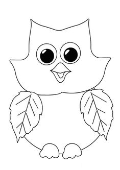 Baykuş Boyama Sayfası | OkulöncesiTR l Preschool