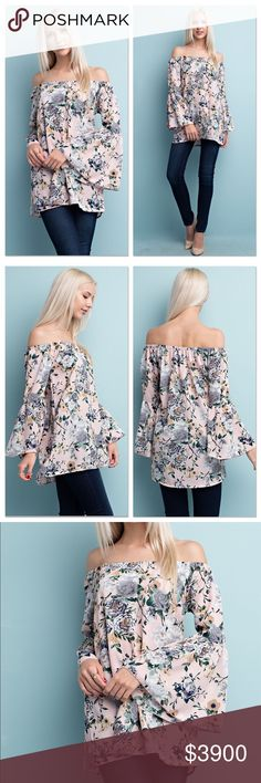 🆕 Blush Bell Sleeve Top Fabric Content:  97% Polyester 3% Spandex  Will provide measurements upon request (serious buyers only please). Bundle and Save! 10% off of a bundle of 3 or more. Lavender Moon Tops Blouses