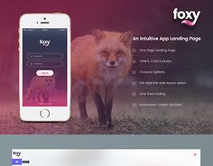 """Check out new work on my @Behance portfolio: """"Foxy App Landing Page"""" http://be.net/gallery/48427883/Foxy-App-Landing-Page"""