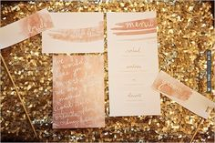 watercolor wedding invites | VIA #WEDDINGPINS.NET