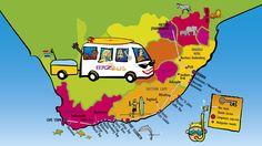 Baz Bus Route :: South Africa's Convenient Hop-on Hop-off Door-to-Door Backpacker Bus Service