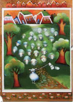 Finland - Nokkala - Sheep with Socks Naive, Letter Writing, Funny Art, Love Art, Finland, Illustrators, Sheep, Art For Kids, Fairy Tales