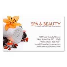Spa, Massage, Wellness And Beauty Salon Business Card. This great business card design is available for customization. All text style, colors, sizes can be modified to fit your needs. Just click the image to learn more! Massage Place, Good Massage, Spa Massage, Massage Therapy, Beauty Business Cards, Salon Business Cards, Elegant Business Cards, Business Card Design, Massage Wellness