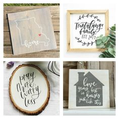 Looking for a hand lettered sign? We have tons of options under $30 that are perfect for your farmhouse style home. Add one to your home today!