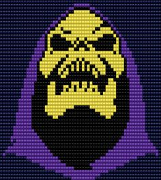 Skeletor from He-Man  Square Grid Pattern 61 Columns X 53 Rows (Pattern by me, Man in the Book)