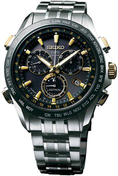 Seiko Astron Watch GPS Solar Chronograph Gold #bezel-fixed… Lars Björnsson - gogolinterest (New Products For Men)