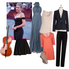 Cello shape by mary-86 on Polyvore featuring polyvore, fashion, style, Elie Saab, Majestic Filatures, Comptoir Des Cotonniers, Vince Camuto, Jaeger, River Island and VANELi