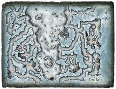 Dungeon #199 - Glacial Rift of the Frost Giant Jarl; Map 2 (Digital DM & Player Versions)