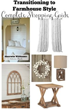 This complete and affordable shopping guide will help get you started with transitioning to farmhouse style in your home.