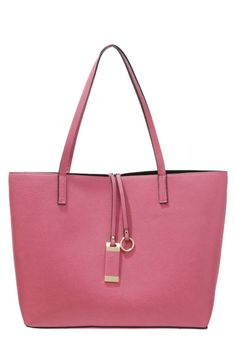 "Handbag - dark rose. Lining:Polyester. carrying handle:10.0 "" (Size One Size). height:11.0 "" (Size One Size). Fabric:Synthetic leather. Outer material:faux leather. width:6.5 "" (Size One Size). length:16.0 "" (Size One Size). Pattern:plain"