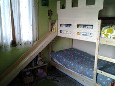 Trasformare un letto ikea Mydal in letto con scivolo e rinforzo anti caduta Opera di mio Fratello Lukat !!!