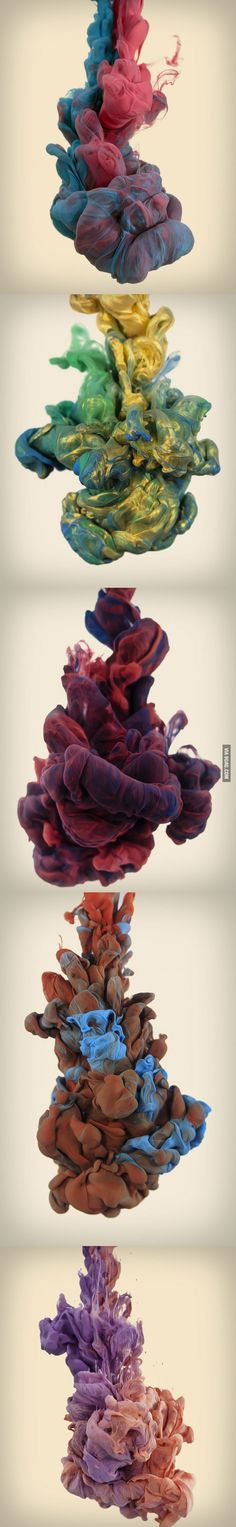 High speed photos of ink dropped in water
