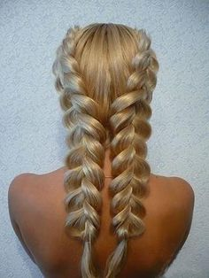 Nice Two Braids and Long Hair