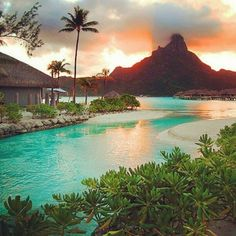 Bora Bora, French Polynesia - no 1 om my list of Dream destinations! Bora Bora, Tahiti, Vacation Places, Dream Vacations, Places To Travel, Tropical Vacations, Dream Trips, Dream Vacation Spots, Romantic Vacations