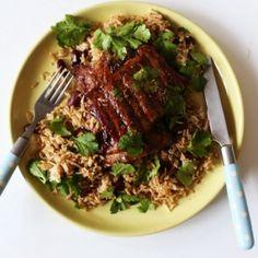 Cajun pork ribs & rice pilaf.
