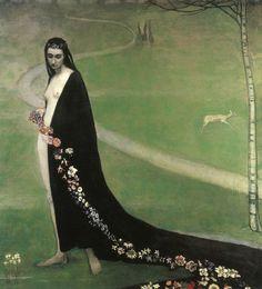 Romaine Brooks: Femme Avec Des Fleurs c1912