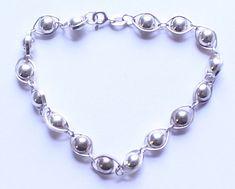 Vintage Sterling Silver 925 Ball Link Bracelet