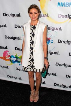 Olivia Palermo at Desigual, s/s 2015 Mercedes-Benz Fashion Week, New York.