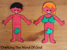 Adam And Eve Paper Dolls (Day 2)