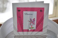 Card for many occasions Birthday Baby girl Baby shower  / Kortti eri tilaisuuksiin onnittelu