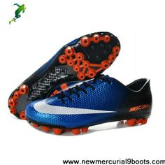 Fashion Nike Mercurial Veloce AG Blue Black White Football Boots On Sale White Football Boots, Black And White Football, Football Shoes, Black White, All Nike Shoes, Nike Boots, New Shoes, Adidas Soccer Boots, Tn Nike