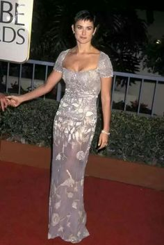 Demi Moore, 1997 In a floral print cap sleeve gown