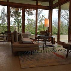 Indoor/outdoor Living Room in my casita #amanera #moderndesign