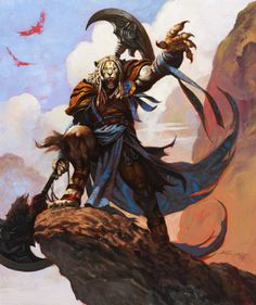 MtG - Ajani Goldmane - Promo Pro-tour - Chris Moeller - Magic The Gathering, in Jerry S's Magic the Gathering Comic Art Gallery Room Fantasy Character Design, Character Creation, Character Concept, Concept Art, Fantasy Warrior, Fantasy Rpg, Fantasy Artwork, Jhon Green, Mtg Art