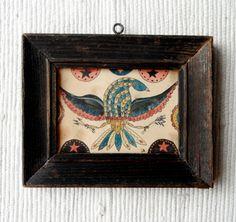 Primitive Fraktur of an Eagle by primitivehand on Etsy, $98.00