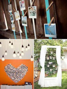 decorazioni matrimonio polaroid