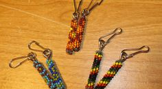 Peyote Stitch Beaded Zipper Pulls