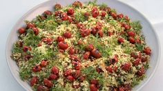 Couscous with grilled cherry tomatoes and fresh herbs recipe