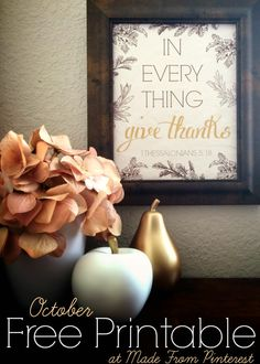 Give-Thanks-Free-Printable-Peach-Text Free Thanksgiving Printables, Thanksgiving Banner, Thanksgiving Quotes, Thanksgiving Crafts, Thanksgiving Decorations, Fall Crafts, Holiday Crafts, Free Printables, In Everything Give Thanks